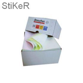 274273 Самокоп.непрер.компьютерная бумага 240х12, 3-сл.Drescher,цвет,600экз/уп