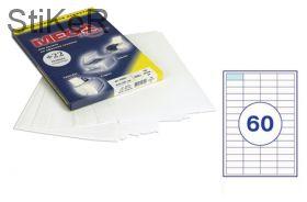 73647 Этикетки самоклеящиеся MEGA LABEL 38х23,5 мм / 60 шт. на листе А 4 (100 листов в пачке)